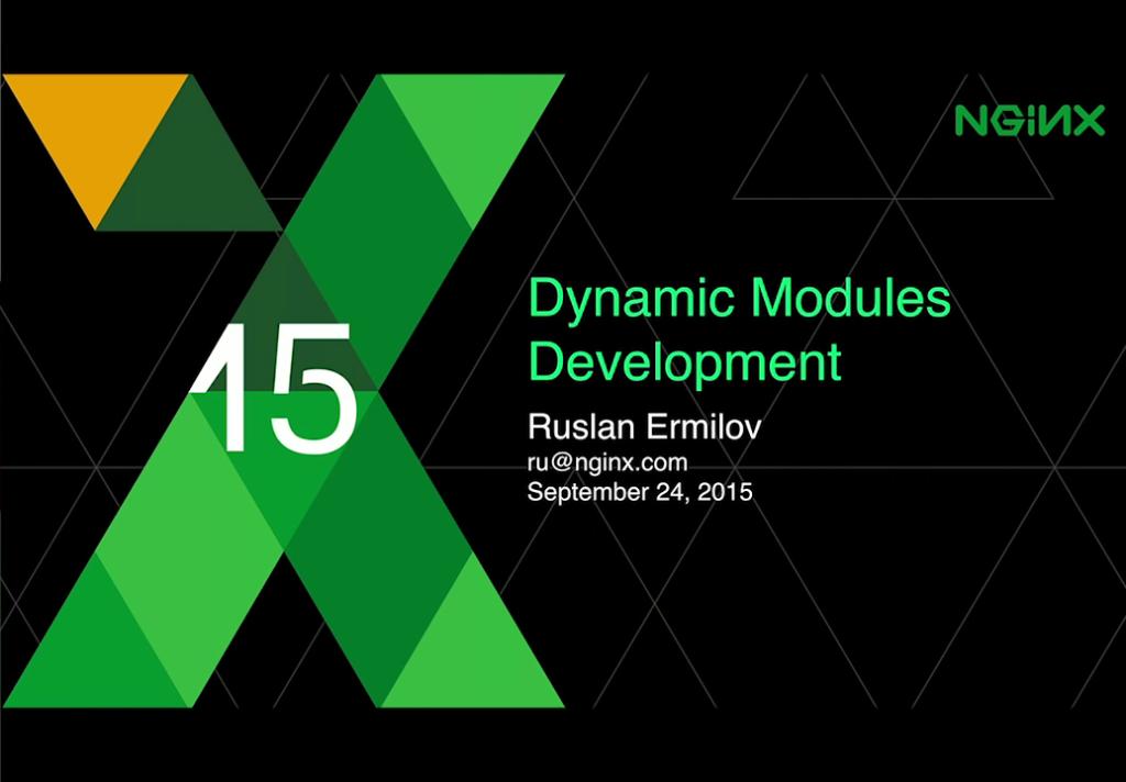 Dynamic Modules Development |NGINX