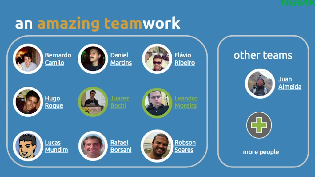 Team of engineers who built Globo.com's live video streaming platform for FIFA World Cup 14 [presentation at nginx.conf2015, Sep 2015]