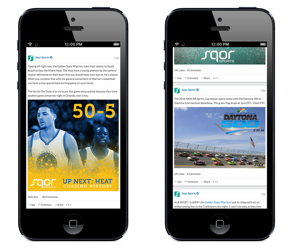 Sqor Sports application on mobile NGINX Plus case study with caching, load balancing, and health checks