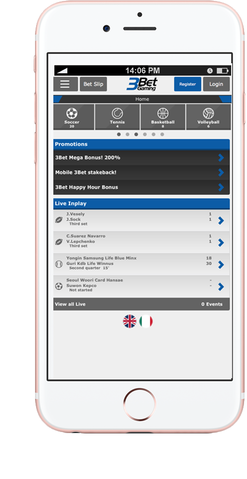 image of 3BetGaming platform on mobile for NGINX Plus load balancing and NGINX monitoring case study