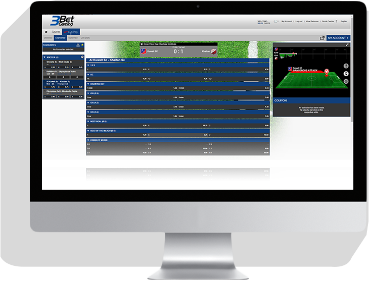 3BetGaming platform on desktop image - for NGINX Plus load balancing case study including how nginx monitoring can help