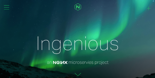 Ingenious NGINX demo app for demonstrating NGINX load balancing in a microservices environment in the three models described in this post - the proxy, router mesh, and fabric models