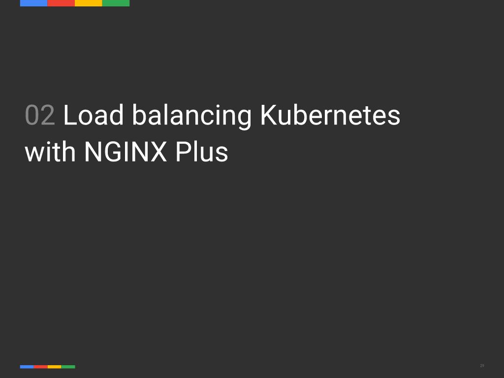 Webinar - GCP- Slide 29 - Load Balancing Kubernetes with NGINX Plus Title