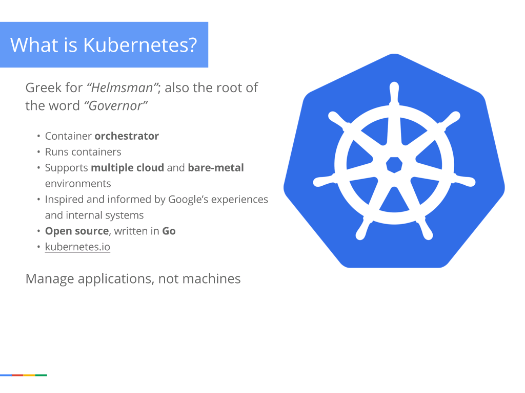 Webinar - GCP- Slide 30 - What is Kubernetes