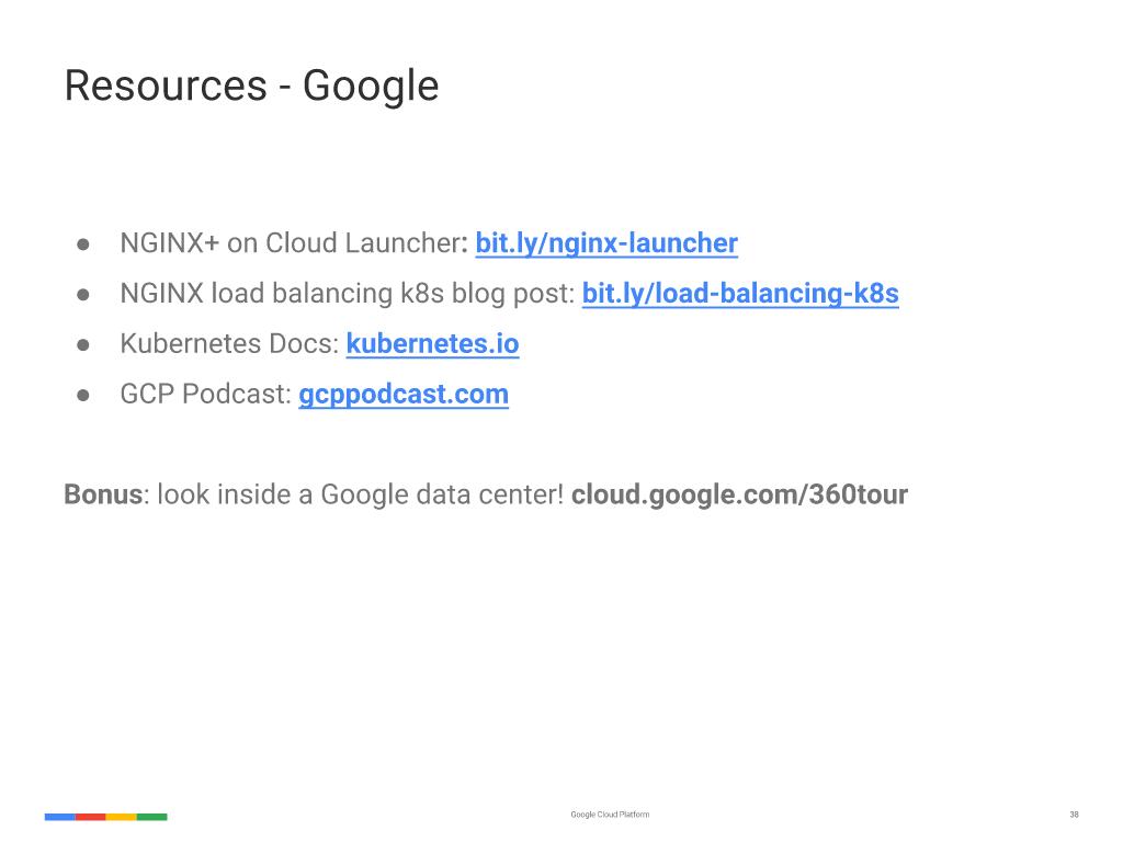 Webinar - GCP- Slide 37 - Google Resources