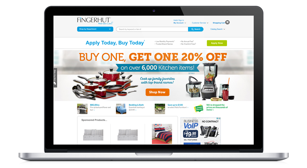 Fingerhut image for Bluestem Brands NGINX Plus case study that focuses on their use of continuous integration and continuous delivery/deployment