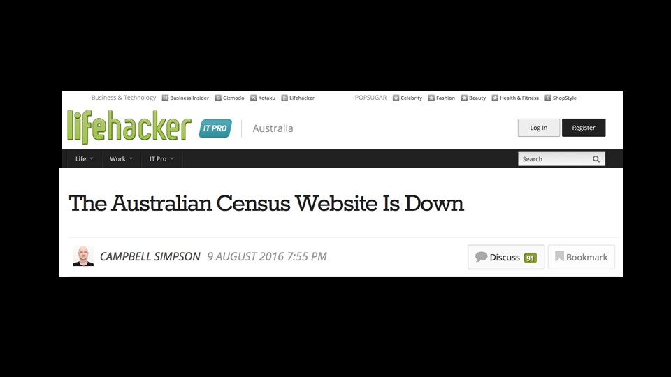 Without NGINX load balancing and web serving capabilities, the Australian Census Website Shuts down [presentation by Gus Robertson,of NGINX at nginx.conf 2016]