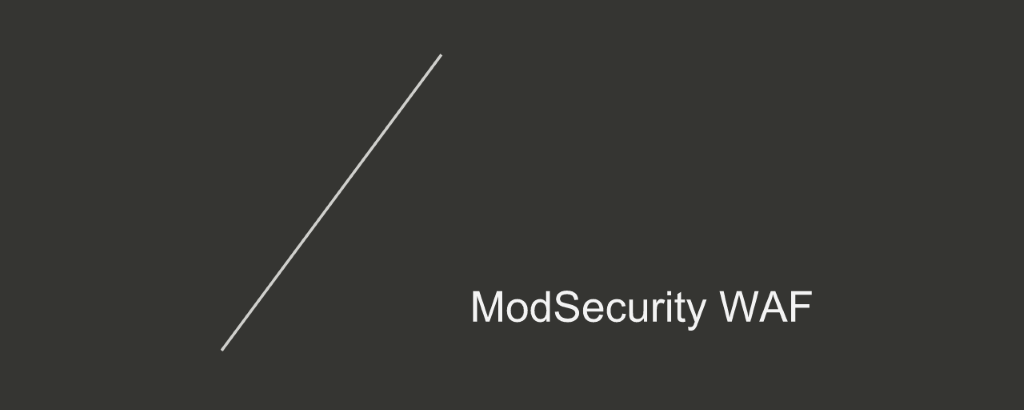 Section title card reading 'ModSecurity WAF' for increased application security