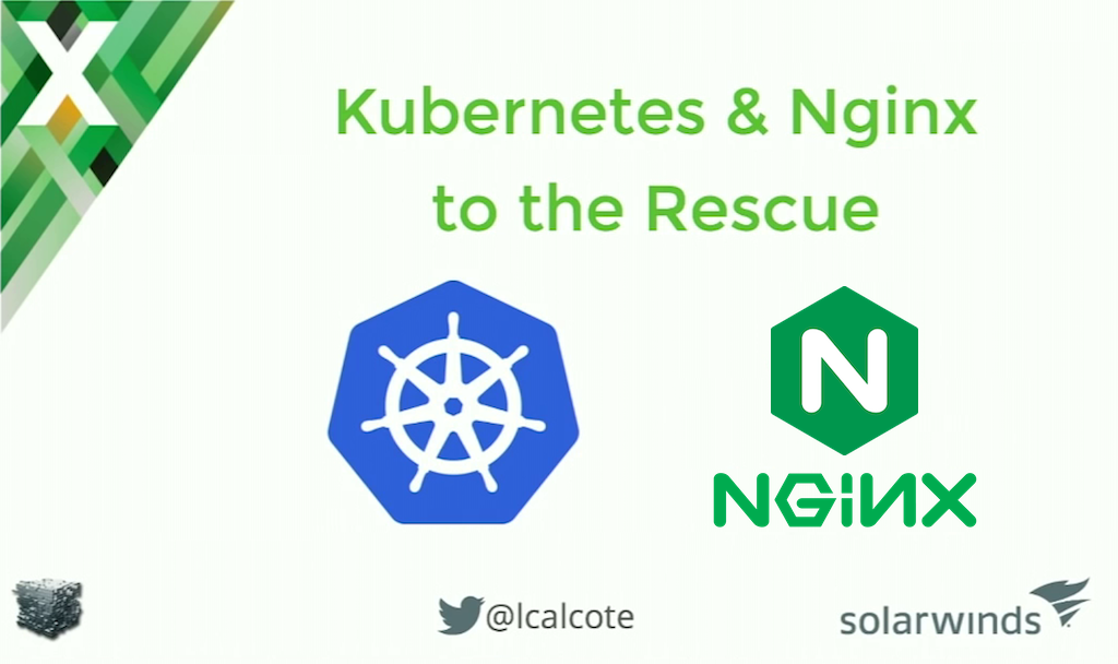 As part of the conversion to a microservices architecture for the case study, Kubernetes was chosen for container management and NGINX Plus for SSL termination and load balancing of WebSocket traffic