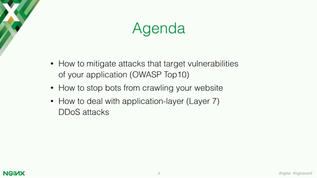The Agenda for web application security [presentation by Stepan Ilyan, cofounder of Wallarm, at nginx.conf 2016]