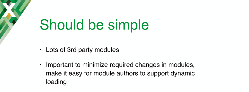 Two principles guided the implementation of NGINX dynamic modules: simplicity and minimal required changes to existing modules