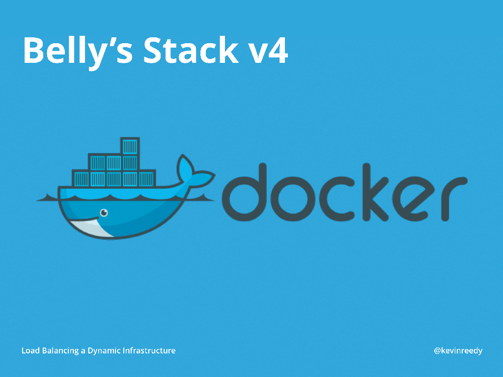 Version four of Belly Card's stack introduced Docker [presentation by Kevin Reedy of Belly Card at nginx.conf 2014]