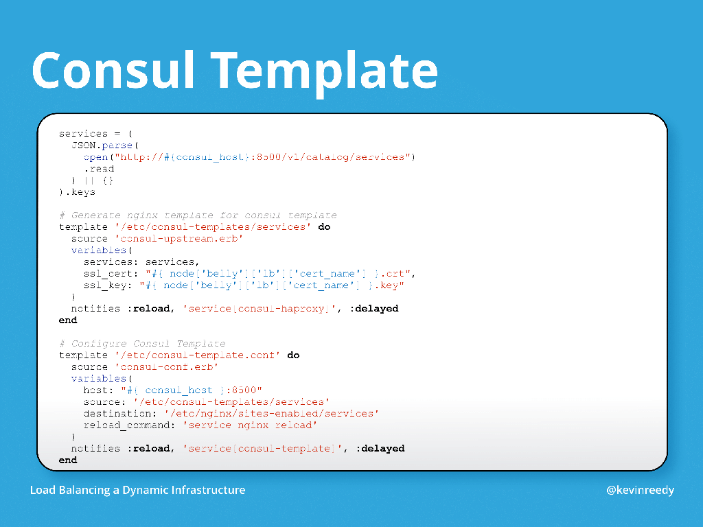 Chef template variables choice image templates design ideas for Consul load balancing