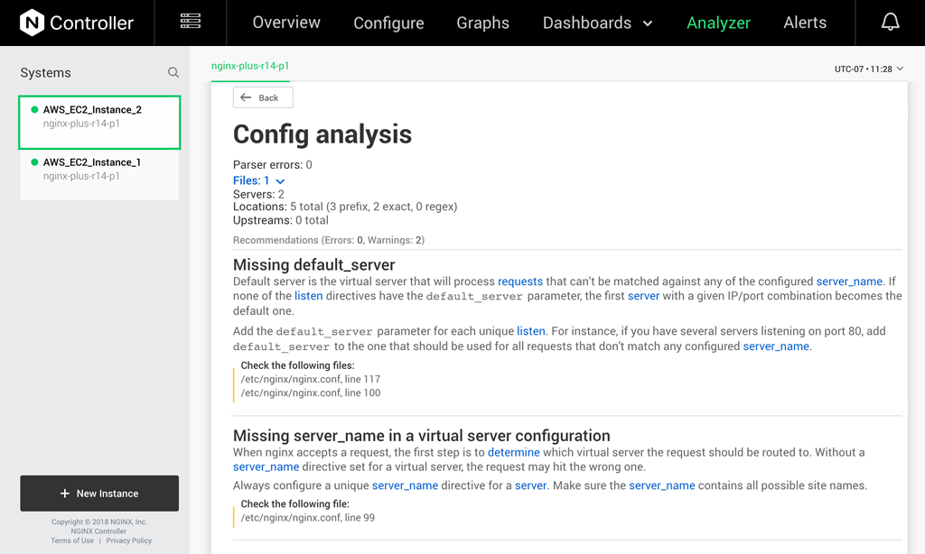 NGINX Controller Preemptive Recommendation