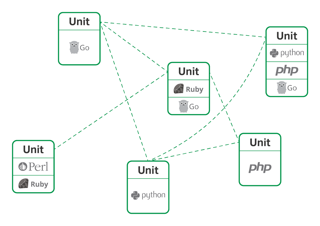 NGINX runs Go, Perl, PHP, Python, and Ruby together on the same server