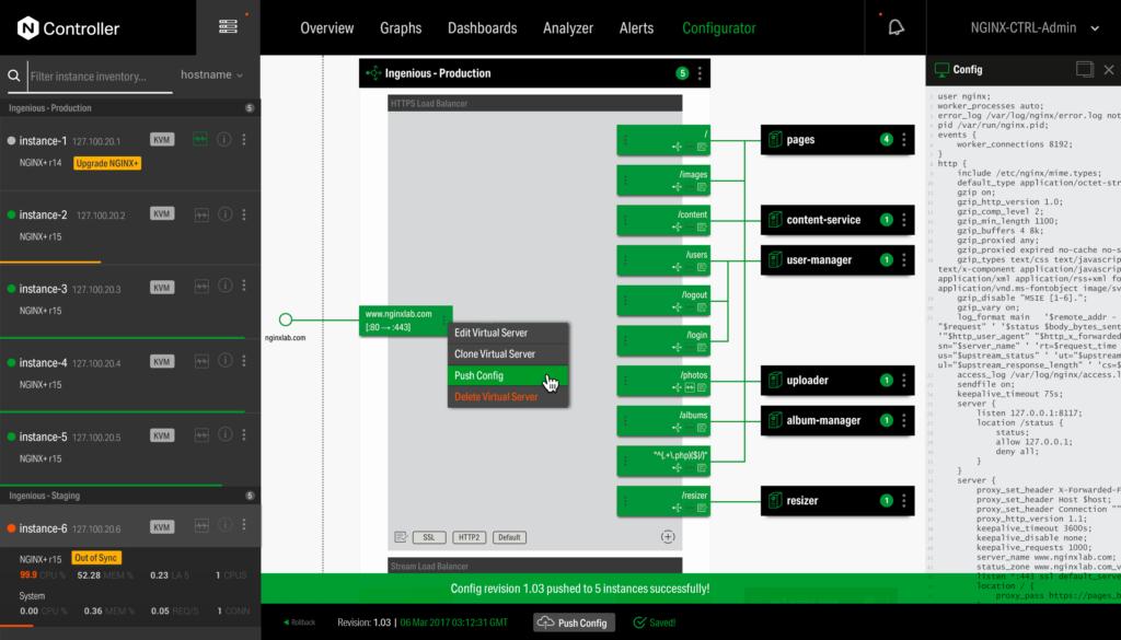 NGINX Controller UI