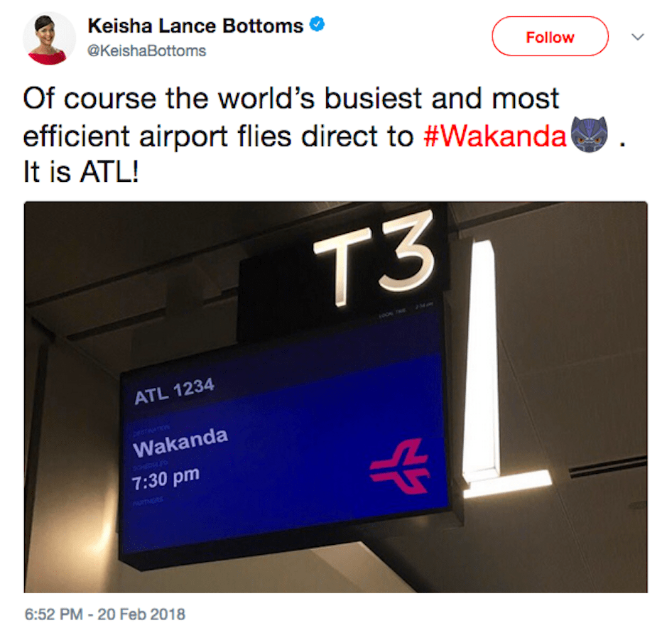 ATL adds direct flights to Wakanda